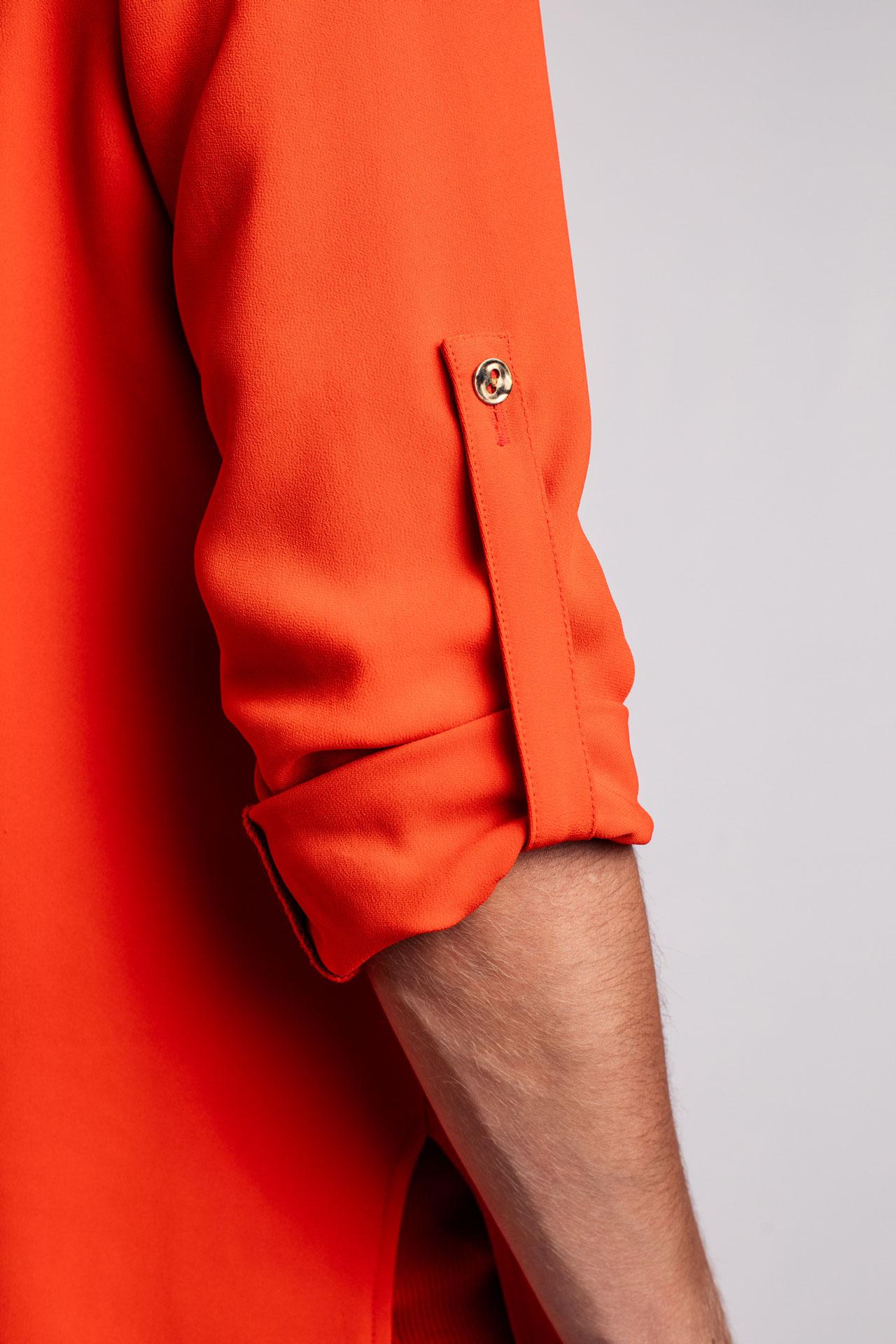 Farbenfrohe Haute Couture Bluse