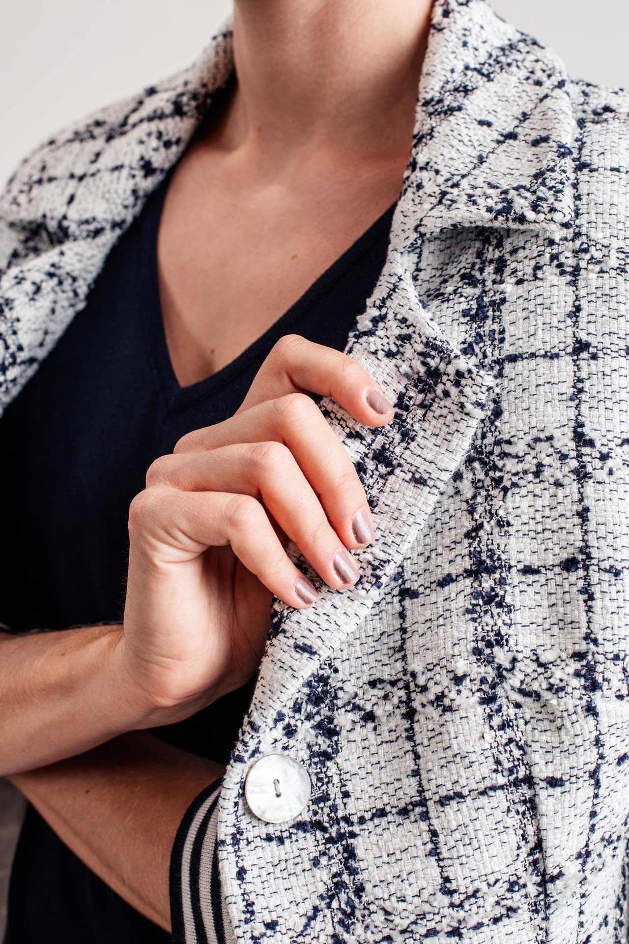 Karierter Haute Couture Mantel